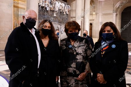 German artist Anselm Kiefer (L), French Culture Minister Roselyne Bachelot (2-R) and Paris Mayor Anne Hidalgo (R) pose inside the Pantheon monument, prior to a ceremony honouring the World War I soldiers and French author Maurice Genevoix who will be inducted to the Pantheon where key figures from France's history are honoured, in Paris, France, 11 November 2020, as part of the commemorations marking the 102nd anniversary of the 11 November 1918 Armistice, ending World War I (WWI). France on 11 November moves the remains of World War I writer Maurice Genevoix into its Pantheon of national heroes in Paris, an honour championed by the French president to encourage remembrance of the conflict. Genevoix wrote five memoirs of his time as a frontline soldier experiencing the horrors of trench warfare in the conflict, which he later collected into a single book 'Ceux de 14' ('Men of 14').
