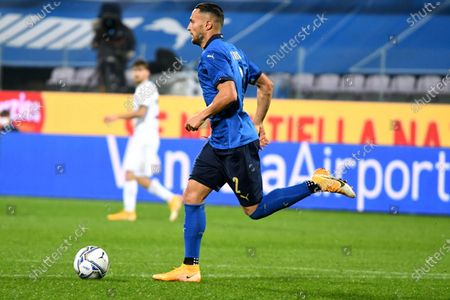 Italy's defender Danilo D'Ambrosio in action during the friendly soccer match between Italy and Estonia at the Artemio Franchi stadium in Florence, Italy, 11 November 2020.