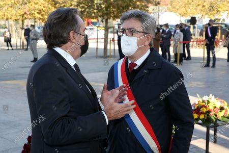 Renaud Muselier and Jean-Luc Melenchon.