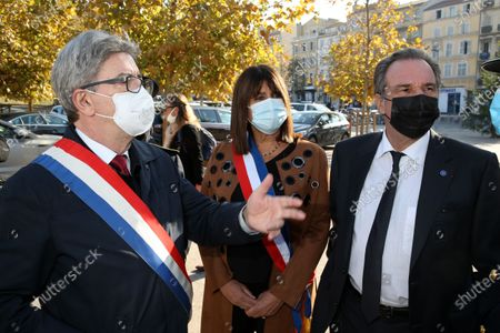 Jean-Luc Melenchon and Michele Rubirola, Renaud Muselier.