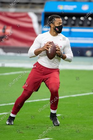 Stock Picture of Arizona Cardinals quarterback Brett Hundley (7) warms up prior to an NFL football game against the Miami Dolphins, in Glendale, Ariz