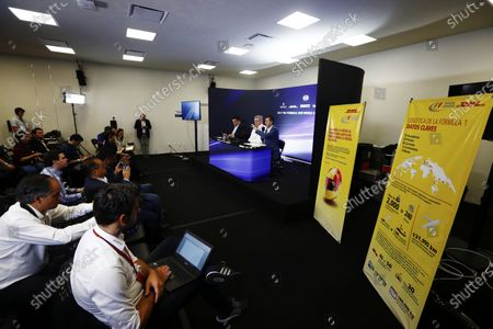 Autodromo Hermanos Rodriguez, Mexico City, Mexico. Thursday 26 October 2017. Ross Brawn, Managing Director of Motorsports, FOM, attends a DHL press conference. World Copyright: Sam Bloxham/LAT Images