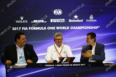 Autodromo Hermanos Rodriguez, Mexico City, Mexico. Thursday 26 October 2017. Ross Brawn, Managing Director of Motorsports, FOM, attends a press conference. World Copyright: Sam Bloxham/LAT Images