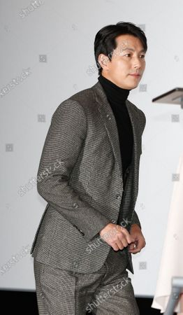 Jung Woo-sung arrives during a handprint event before The 41th Blue Dragon (Cheongryong) Awards; at the CGV Yeouido theater in Seoul, South Korea, 12 November 2020. The Blue Dragon (Cheongryong) Awards are one of the country's two major film awards. The award ceremony will take place in Paradise City, Art Space Plaza in Incheon, South Korea on 11 December 2020.