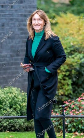 Allegra Stratton arriving in Downing Street
