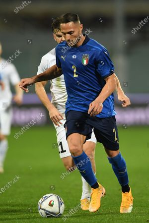 "Danilo D Ambrosio (Italy)Frank Liivak (Estonia)                         during the UEFA ""Nations League 2020-2021"" match between Italy 4-0 Estonia   at Artemio Franchi Stadium  on November 11 , 2020 in Firenze, Italy."