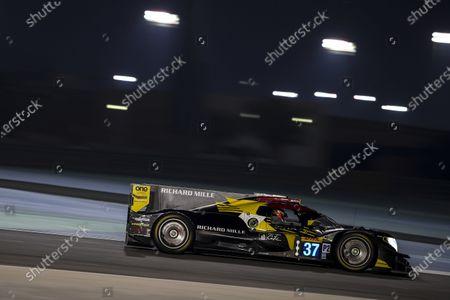 BAHRAIN INTERNATIONAL CIRCUIT, BAHRAIN - NOVEMBER 12: #37 Jackie Chan DC Racing Oreca 07: Ho-Pin Tung, Gabriel Aubry, Will Stevens during the Bahrain II at Bahrain International Circuit on November 12, 2020 in Bahrain International Circuit, Bahrain. (Photo by JEP / LAT Images)
