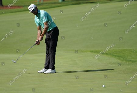Rafa Cabrera Bello of Spain putts on the second hole during the first round of the 2020 Masters Tournament at the Augusta National Golf Club in Augusta, Georgia, USA, 12 November 2020. After being delayed seven months by the coronavirus pandemic, the 2020 Masters Tournament is being held without patrons 12 November through 15 November.