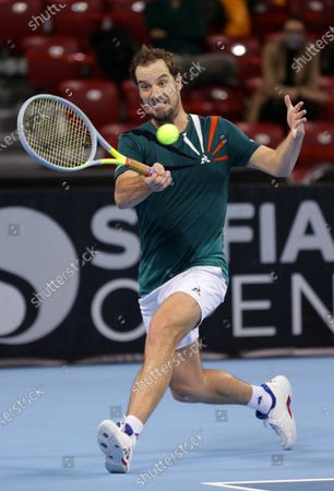 France's Richard Gasquet in action during his quarter-final match against Italy's Salvatore Caruso during the Sofia Open ATP 250 tennis tournament.