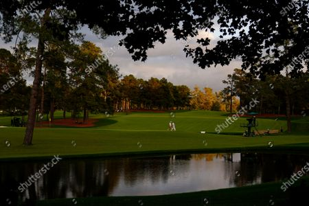 Jose Maria Olazabal, of Spain, walks along the 15th fairway during the first round of the Masters golf tournament, in Augusta, Ga