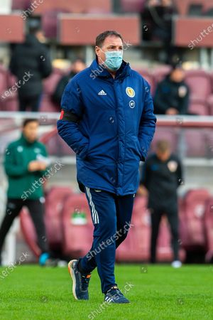 SFA Performance Director, Malky Mackay makes his way across the pitch before the 2019-21 UEFA Under-21 Championship qualifier match between Scotland and Croatia at Tynecastle Park, Edinburgh