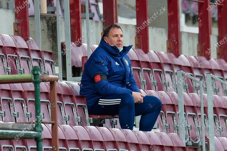 SFA Performance Director, Malky Mackay watches from the stands during the 2019-21 UEFA Under-21 Championship qualifier match between Scotland and Croatia at Tynecastle Park, Edinburgh