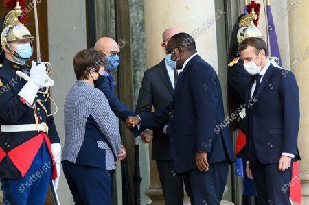 Kristalina Georgieva, Pascal Lamy, Charles Michel, Macka Sall and Emmanuel Macron.