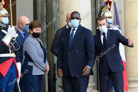 Stock Image of Kristalina Georgieva, Pascal Lamy, Charles Michel, Macka Sall and Emmanuel Macron.