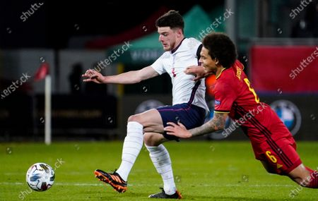 Declan Rice of England and Axel Witsel of Belgium