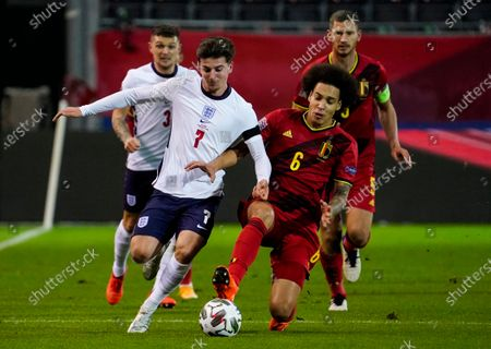Mason Mount of England and Axel Witsel of Belgium