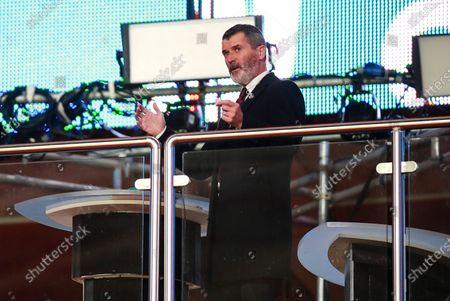 England vs Republic of Ireland. Former Republic of Ireland international Roy Keane looks on during the game