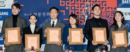 Editorial picture of 41st Blue Dragon Film Awards, hand printing ceremony, Seoul, South Korea - 12 Nov 2020