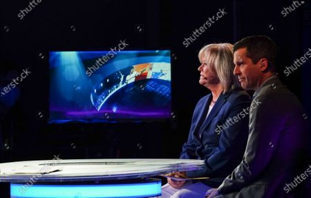 Stock Image of Sue Barker presents the BBC coverage alongside Tim Henman