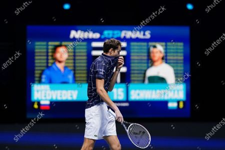 Editorial photo of Nitto ATP Finals 2020, Day Six, Tennis, The 02 Arena, London, UK - 20 Nov 2020