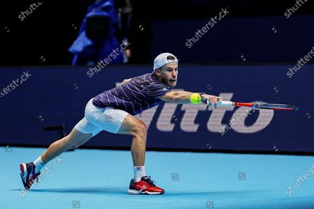 Editorial picture of Nitto ATP Finals 2020, Day Six, Tennis, The 02 Arena, London, UK - 20 Nov 2020