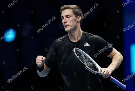 Joe Salisbury of Great Britain celebrates during play in the Men's Doubles