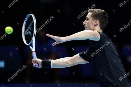 Joe Salisbury of Great Britain in action in the Men's Doubles