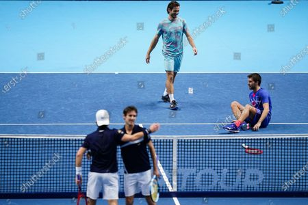 Editorial photo of Nitto ATP Finals 2020, Day Eight, Tennis, The 02 Arena, London, UK - 22 Nov 2020