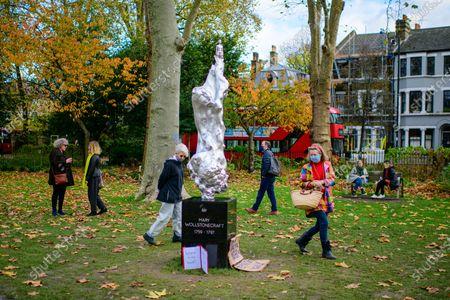 Editorial photo of Mary Wollstonecraft sculpture by Maggi Hambling, London, UK - 12 Nov 2020