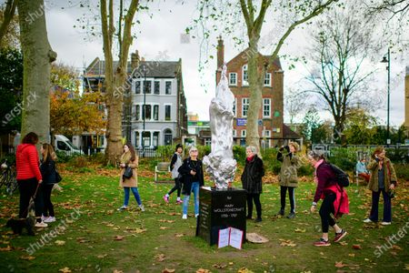 Editorial picture of Mary Wollstonecraft sculpture by Maggi Hambling, London, UK - 12 Nov 2020