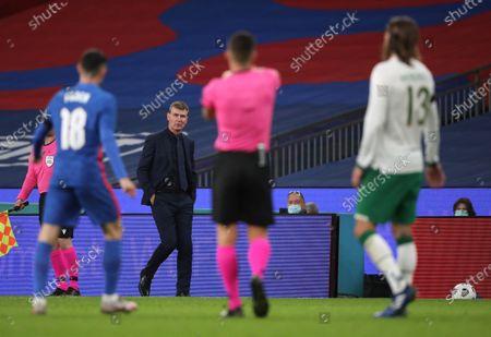 Stephen Kenny (Ireland coach) at the England v Republic of Ireland International Friendly match at Wembley Stadium, London, UK on 12 November, 2020.