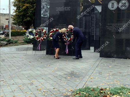 Editorial picture of Bidens Lay a Wreath at the Philadelphia Korean War Memorial, Philadelphia, Pennsylvania, USA - 11 Nov 2020