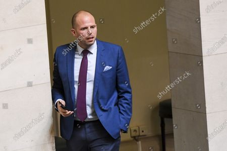Stock Image of Orientation and general policy brief by Minister Ludivine Dedonder .Pix : Theo Francken