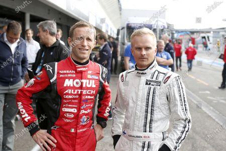 2017 DTM Round 9  Hockenheimring, Germany  Friday 13 October 2017. Ronnie Quintarelli, Nissan GT-R, Heikki Kovalainen, Lexus LC500  World Copyright: Alexander Trienitz/LAT Images