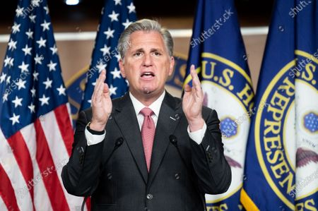 House Minority Leader Kevin McCarthy (R-CA) speaks at his press conference.