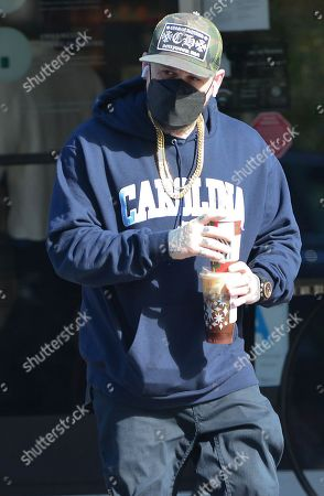 Stock Picture of Exclusive - Benji Madden gets coffee at Starbucks