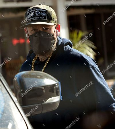 Stock Image of Exclusive - Benji Madden gets coffee at Starbucks