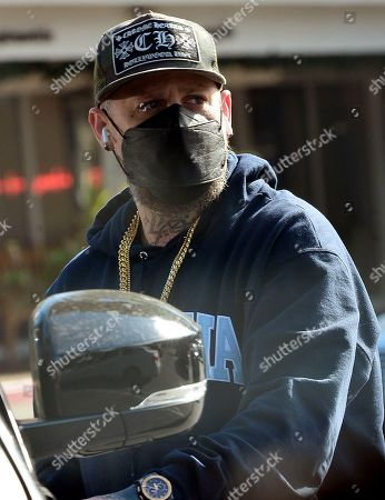Stock Photo of Exclusive - Benji Madden gets coffee at Starbucks