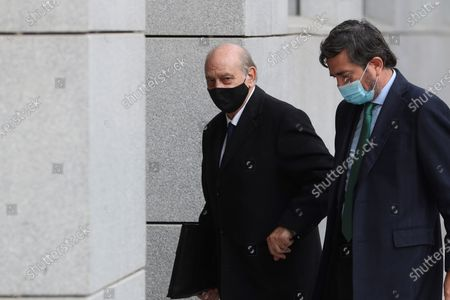 Stock Image of Former Home Affairs minister Jorge Fernandez Diaz (L) at his arrival to the National Court in Madrid, Spain, 13 November 2020 where he is accused in 'Kitchen' case, an allegedly illegal spying operation against the former Popular Party treasurer Luis Barcenas.
