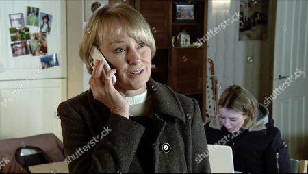 Coronation Street - Ep 10182 Monday 30th November 2020 - 2nd Ep At No.13, Abi Franklin, as played by Sally Carman, shows Kevin Webster and Sally Metcalfe, as played by Sally Dynevor, the invoice she found in Ray's office. Having called a colleague on the council, Sally confirms that a planning application has been submitted to knock down half the street.