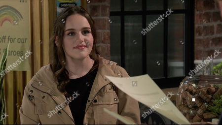 Coronation Street - Ep 10171 Wednesday 18th November 2020 - 1st Ep Ray Crosby offers Faye Windass, as played by Elle Leach, the role of trainee manager across his entire hotel and restaurant chain.
