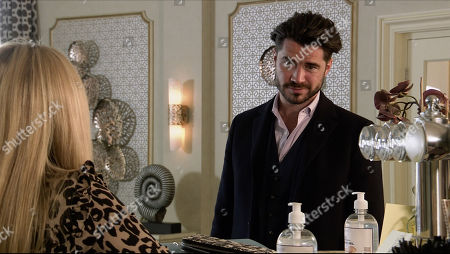 Coronation Street - Ep 10171 Wednesday 18th November 2020 - 1st Ep Carla attempts to set Adam Barlow, as played by Sam Robertson, and Sarah Barlow, as played by Tina O'Brien, up by inviting them both to lunch and hints if all goes well she has a spare hotel room for them for the night. Will Sarah and Adam reunite?
