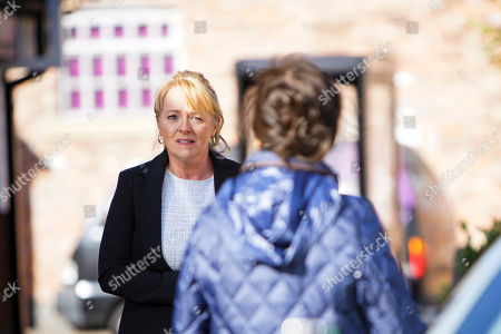 Coronation Street - Ep 10178 Wednesday 25th November 2020 - 2nd Ep Jenny Connor, as played by Sally-Ann Matthews, begs Margaret, as played by Jane Lowe, not to go to the police, explaining that Johnny suffers from MS.