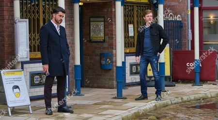 Coronation Street - Ep 10174 Friday 20th November 2020 - 2nd Ep Adam Barlow, as played by Sam Robertson, and Daniel Osbourne, as played by Rob Mallard, are horrified to find Peter Barlow in Victoria Garden clutching an unopened bottle of whisky. What has tipped him over the edge?