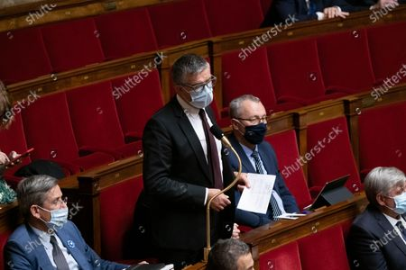 Stock Photo of Bertrand Pancher during the weekly session of questions to the government at the French National Assembly.