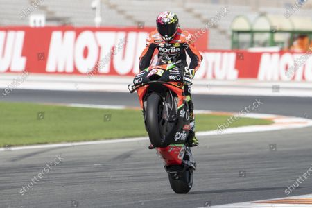 VALENCIA CIRCUIT RICARDO TORMO, SPAIN - NOVEMBER 13: Aleix Espargaro, Aprilia Racing Team Gresini during the Valencia GP at Valencia Circuit Ricardo Tormo on November 13, 2020 in Valencia Circuit Ricardo Tormo, Spain. (Photo by Gold and Goose / LAT Images)