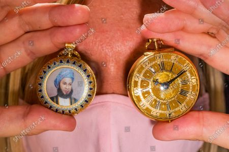 Usher & Cole, London, 18K gold keyless wind full hunter pocket watch with enamel portrait possibly depicting Sultan Sayyid Hamad bin Thuwaini Al-Busaid of Zanzibar, London Hallmark for 1893, est £2,000 - 3,000 and a Thomas Tompion, a fine gold key wind pair case pocket watch, London Hallmark for 1700, est £8,000 - 10,000 - Preview of Bonhams' Watches and Wristwatches Sale featuring more than 150 historic and modern timepieces, led by a trio of historic pocket watches. The sale will take place at 1pm on 17 November in Knightsbridge.