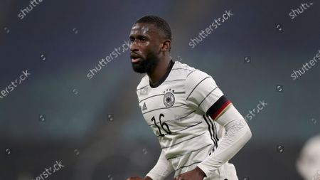 Germany's Antonio Ruediger during a friendly soccer match between Germany and the Czech Republic in Leipzig, Germany