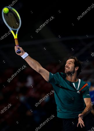 Stock Photo of Richard Gasquet of France in action during his semi final match against Vasek Pospisil of Canada at the Sofia Open ATP 250 tennis tournament in Sofia, Bulgaria, 13 November 2020.