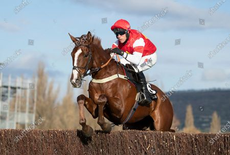 The Big Breakaway (Robbie Power) clears a fence on their way to winning the 3m novices chaseCheltenham 15.11.20 Pic: Edward Whitaker, supplied by Hugh Routledge.
